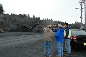 Akihok tsunami shelter road project