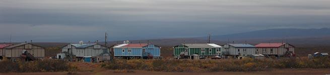 Homes in Buckland, Alaska.